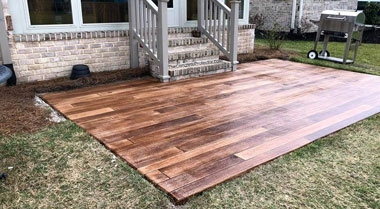 Concrete Wood Patio