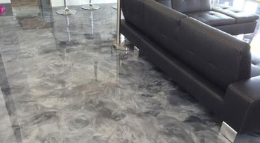 Metallic Epoxy resin floor