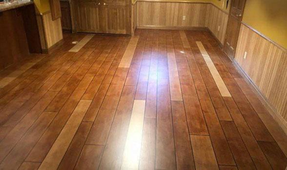 Rustic Wood Flooring Concrete