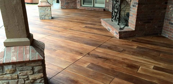 Stamped Concrete That Looks Like Wood