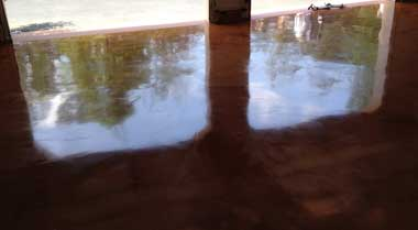 metallic epoxy floor Des Moines