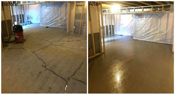 Epoxy Basement Concrete Floor